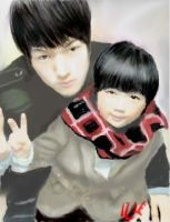 Taejun and Yoogeun by Sketched-Nightmares
