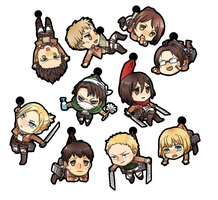 Shingeki no Kyojin charms by b-snippet