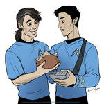Baezil and Thistles as Bones and Spock by AIDidkovsky