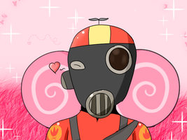 At Kiddo the Pyro :3 by htfloveAPH