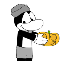 Flip with a pumpkin by MarcosLucky96