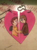 Matching Destiel Charms by labramazing