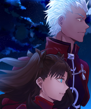 Rin and Archer by tyan