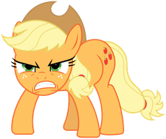 MLP: Angry Applejack :| by FloppyChiptunes