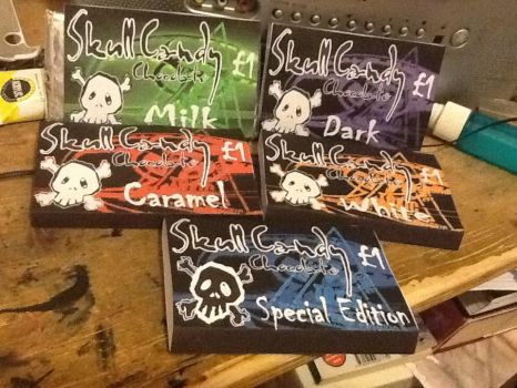 SkullCandy chocolate bars by TheSilentArtist2225