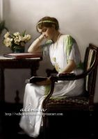 Grand Duchess Olga reading by VelkokneznaMaria