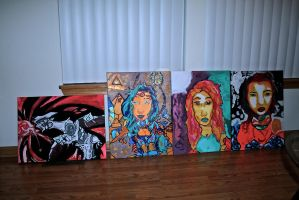 Paintings I've done from earlier this year :D by JamesSaverson