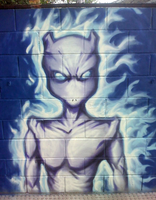 Mewtwo Graffiti by DavidStrife
