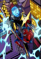 Spidey vs Electro by Jey09