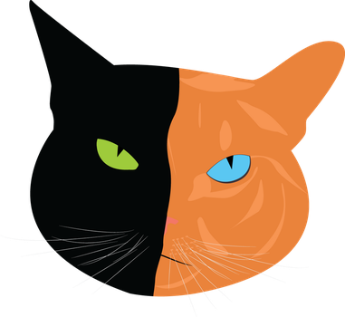 Two-Faced Cat by Tigergirl98