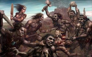 Mesolithic battle by Lobzov
