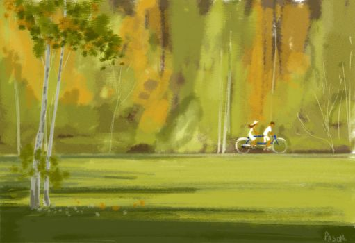 Tandem in the park. by PascalCampion