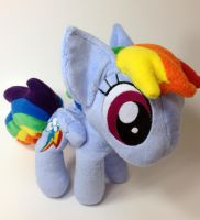My Little Pony - Chibi Rainbow Dash plush by Kitamon