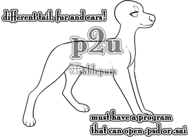 p2u customizable canine template by sablepuss