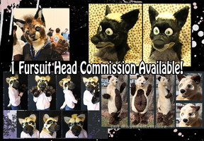 Fursuit Head Commission Available! (and handpaws!) by BlueWolfCheetah