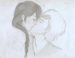 Katniss and Peeta by Smars12