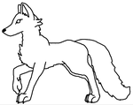 Wolf/Canine Lineart by BlizzardFoxx