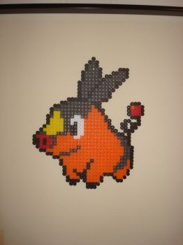 Tepig Bead Sprite by PaperBeing
