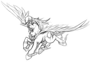 Fanart - Highly Artistic Argentina Pony by Eclipseowl