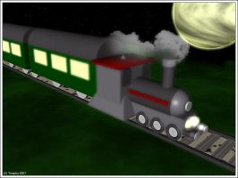 C4D steam train by tomphy