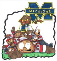Michigan Wolverine commish by 5chmee