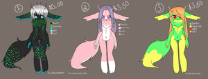 Furry Adoptables 1 by BiisuMonster