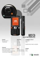 Walkman Phone Catalogue- W810i by muffy1986