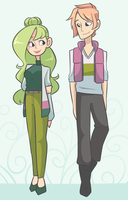 Look at these two wearing clothes by Looji