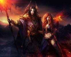 Elsbeth and Constantin by Tira-Owl