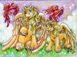 Mommy Knows - Pegasus ACEO by BlackAngel-Diana