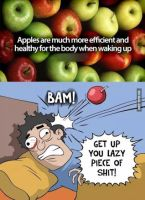 Apples are healthy for the morning by cosenza987