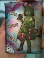 phsyco cutie Artist trading card by ollie999101