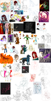 sketch dump that never ends... by thundraforest