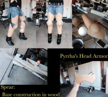 Pyrrha Nikos Cosplay WIP: Armor and Spear by LePastryFiend