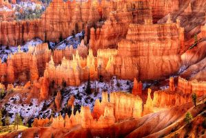Glowing Hoodoos by rickbattle