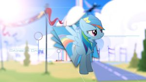 Wallpaper - Lt. Rainbow Dash by AntylaVX