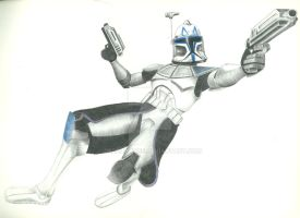 Star Wars: Captain Rex by DKDeLounge