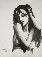Angelina Jolie by DhanThePilgrim