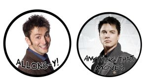 Doctor Who Badges by Lord-Koprovold