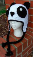 Crochet Panda hat by TheCrochetDragon