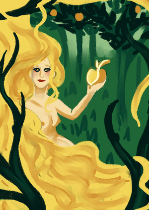 Aphrodite and the golden apple