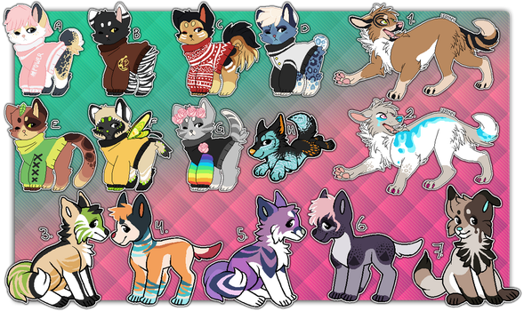 OTA Canine Adoptables [OPEN] by Hohtis