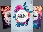 Hipster Flowers Flyer Bundle by styleWish