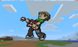 Scott Pilgrim Minecraft by natekillswithskillz