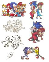Random Sonic people Sheet 2 by Spectrumelf