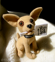Taco Bell Chihuahua With Sign by The-Toy-Chest