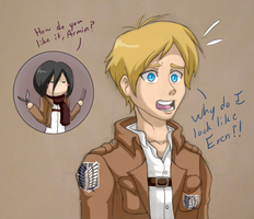 Armin's Haircut by CentauriStars
