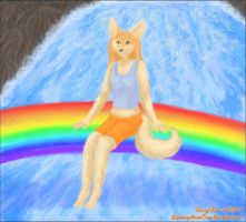 Over the waterfall by LunozvezdnaiaCoon