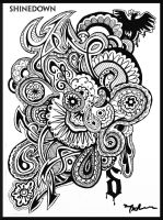 Rock and Roll coloring page SHINEDOWN by MARIFFA