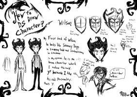 How To Draw DS Character Wilson by RavenBlackCrow